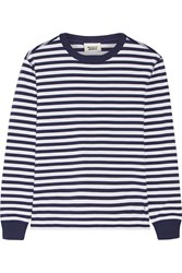 Sleepy Jones Helen Striped Cotton Jersey Pajama Top