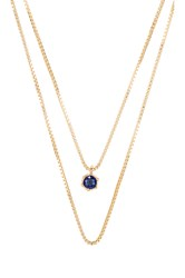 Natalie B September Birthstone Necklace Metallic Gold