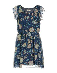 Molly Bracken Short Dresses Blue