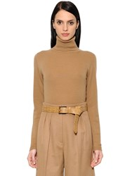 Max Mara Wool And Cashmere Knit Turtleneck Sweater
