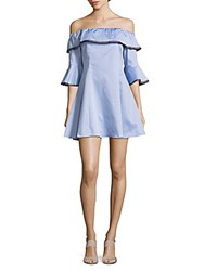 Saks Fifth Avenue Red Off Shoulder Ruffled Dress Powder Blue