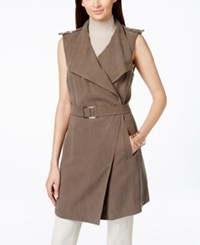 Inc International Concepts Belted Long Vest Only At Macy's