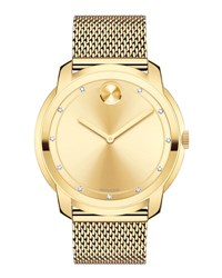 Movado 44Mm Bold Watch With Diamond Markers Gold