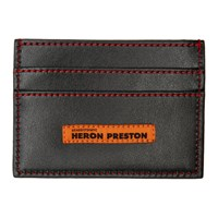 Heron Preston Black Style Squared C Flat Card Holder