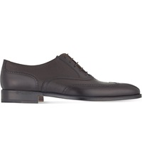 Stemar Leather Oxford Shoes Brown