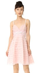 Giambattista Valli Sleeveless Flared Dress Light Pink