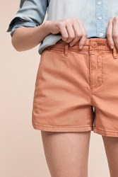 Anthropologie Shortie Chino Shorts Light Red