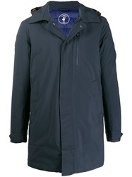 Save The Duck Padded Hooded Jacket Blue