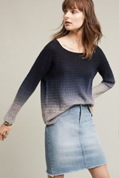 Anthropologie Ombre Cashmere Pullover Blue