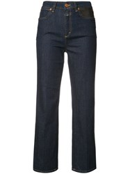 Closed High Waisted Cropped Jeans Blue