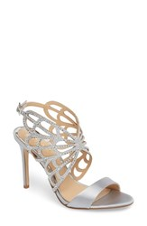 Jewel Badgley Mischka 'S Taresa Crystal Embellished Butterfly Sandal Silver Satin