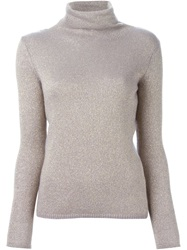 Etro Turtle Neck Sweater Pink And Purple