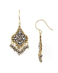 Miguel Ases Dangling Cluster Drop Earrings Multi