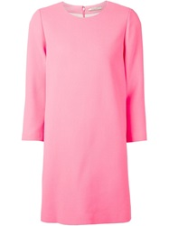 Bouchra Jarrar Three Quarter Sleeve Dress Pink And Purple