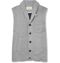 Oliver Spencer Loungewear Lounge Lux Jersey Gilet Gray