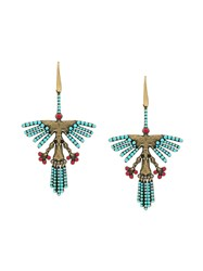 Valentino Hummingbird Earrings Multicolour