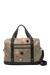 Madden Girl Nylon Patch Weekend Bag Green