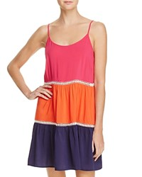 Tory Burch Color Block Dress Swim Cover Up Pink