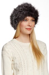 Dena Genuine Fox Fur Headband Blue