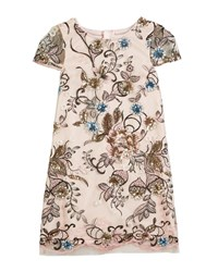 Milly Minis Chloe Floral Sequin Embroidered Dress Multi