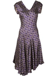 Josie Natori Jacquard Swing Dress 60