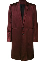 Ann Demeulemeester Single Breasted Coat Red