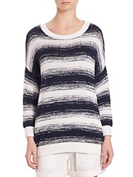 Vince Ombre Striped Pullover Blue Marine