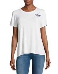 Highline Collective Embroidered Bird Tee White