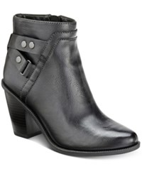Bar Iii Dove Block Heel Booties Only At Macy's Women's Shoes Black