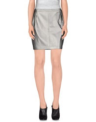 Blk Dnm Mini Skirts Grey
