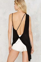 Twist Of Fate Sheer Tank Black