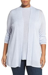 Eileen Fisher Plus Size Women's Sleek Knit Kimono Cardigan India Sky