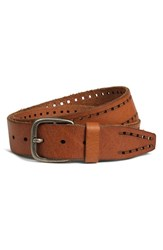Men's Big And Tall Trask 'Holt' Leather Belt Saddle Tan