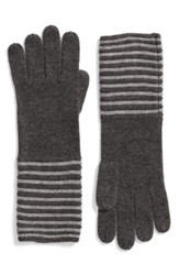 Michael Michael Kors Women's Double Links Wool And Cashmere Gloves Derby Pearl Heather Grey