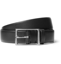 Burberry 3Cm Black Blake Cross Grain Leather Belt Black