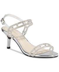 Caparros Happy Embellished Strappy Evening Sandals Women's Shoes Silver