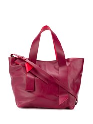 Red Valentino V Bow Tote Red