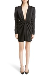 Saint Laurent Women's Satin Cocktail Minidress Black