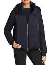 Dkny Pure Mixed Media Puffer Jacket Classic Navy