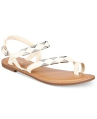 Bar Iii Vadya Hardware Sandals Only At Macy's Women's Shoes White