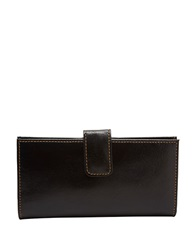 Tusk Slim Leather Clutch Wallet Black