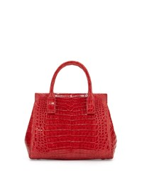 Nancy Gonzalez Daisy Small Crocodile Satchel Bag 013Red Shi