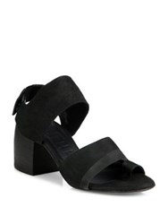 Ld Tuttle The Lace Suede Block Heel Slingbacks Black