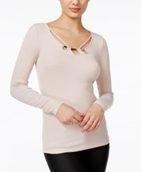 Guess Kalei Strappy Sweater Pink Sheer Bliss