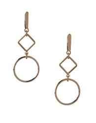 Bcbgeneration Wire Work Hoop Earrings Gold
