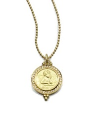 Temple St. Clair Angel Diamond And 18K Yellow Gold Pendant