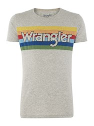 Wrangler Men's Rainbow Logo T Shirt Grey
