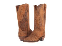 Lucchese N9729.54 Stonewashed Cheetah Cowboy Boots Brown