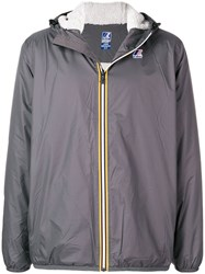 K Way Zipped Wind Breaker Grey