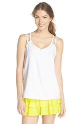 Lija 'Floating' Double Strap Camisole White